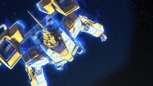 金色の機体が百式を思い出させるユニコーンガンダム3号機フェネクス