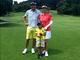 「この日がこんなに早く来るなんて」 東尾理子が家族3人でゴルフ、初めて長男とラウンド回り大感激