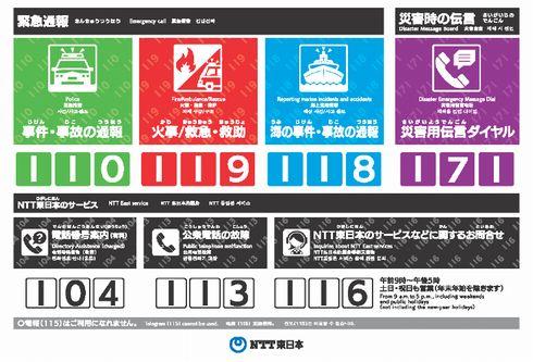 公衆電話 災害時 重要 啓発 NTT