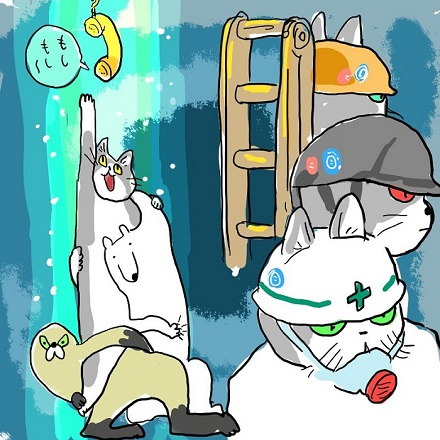 ヨシ!」と指差確認する\u201c現場猫\u201dがネットで謎の流行 改変コラ