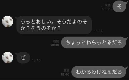 親子 LINE 省略 会話 シュール