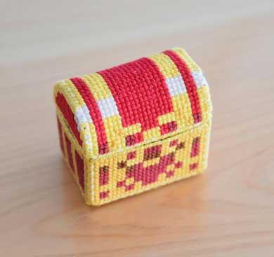 ドラクエ 宝箱 ピンクッション 刺繍 手作り