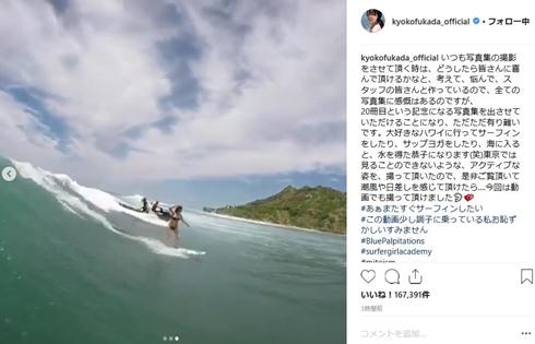深田恭子 写真集 サーフィン 20冊目 ハワイ 海