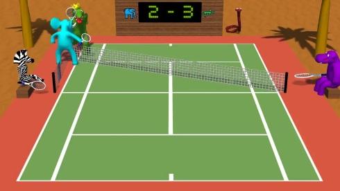 テニス テニヌ 動物 アグレッシブ