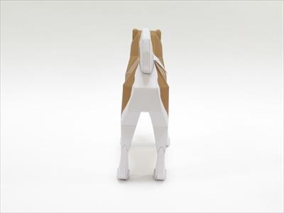 秋田犬ペーパークラフト