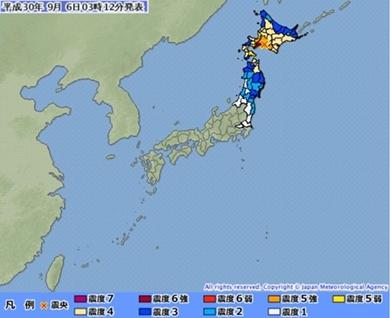 北海道 地震 震度6強 避難 気象庁