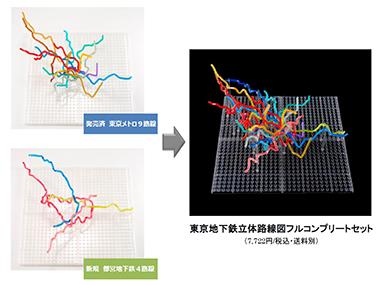 東京地下鉄立体路線図フルコンプリートセット