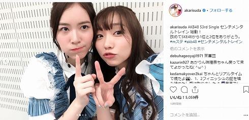 松井珠理奈 Mステ復帰 センチメンタルトレイン 須田亜香里 世界選抜