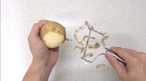 じゃがいも ポテト 作ってみた 包丁 圧倒的不審者の極み!