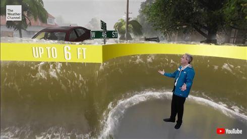 ハリケーンを報じる米天気予報、被害を完全再現したCGが話題に 「文字で伝えるより絶対避難する」「やはり視覚化は大事」
