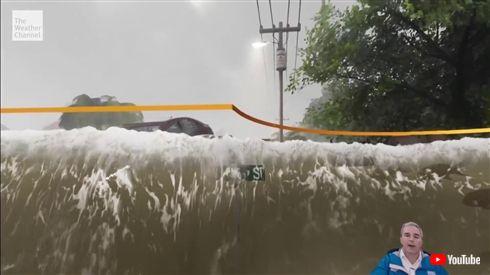 ハリケーンを報じる米天気予報、被害を完全再現したCGが話題に 「やはり視覚化は大事」「一撃でビビって逃げられる」