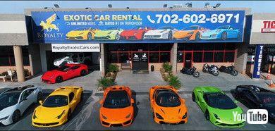 超高級車専門のレンタカー店「Royalty Exotic Cars」