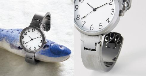 チョウチョつかまえたいニャー腕時計