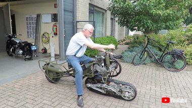 履帯 バイク 魔改造 フランス モト・シェニール