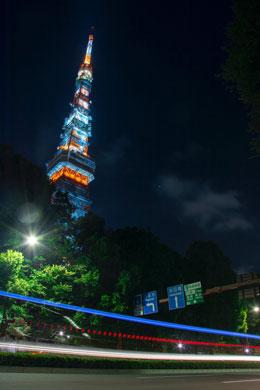 東京タワー 夜景 空車 タクシー 夜景全景