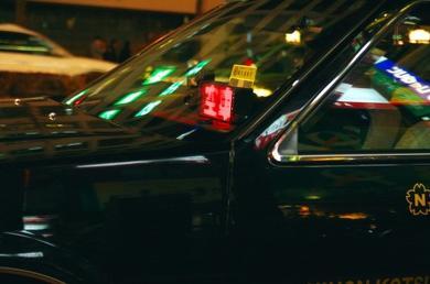 東京タワー 夜景 空車 タクシー スーパーサイン