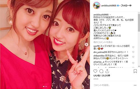 菊地亜美 吉村崇 矢口真里 小島瑠璃子 そっくり 家族 結婚式 披露宴 Instagram シンクロ