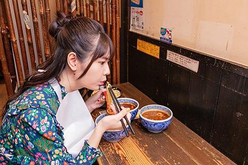 竹達彩奈 声優 三田製麺所 10周年感謝還元祭 三田本店