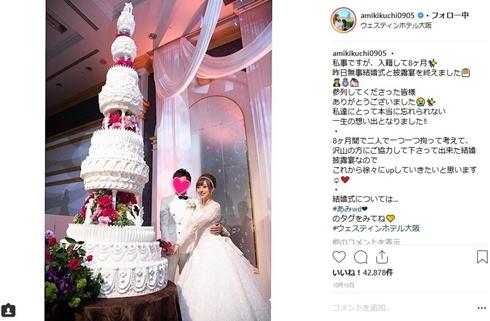 菊地亜美 夫 誕生日 結婚 旦那
