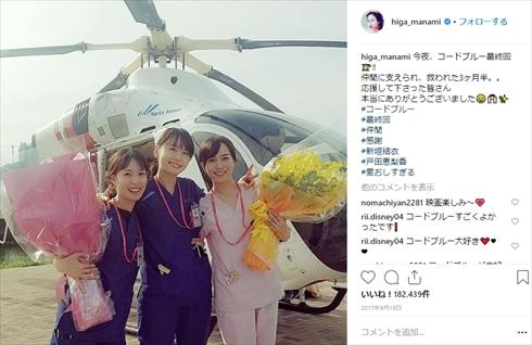 比嘉愛未 戸田恵梨香 コード・ブルー 大恋愛 サプライズ 親友 関係 ドラマ 共演