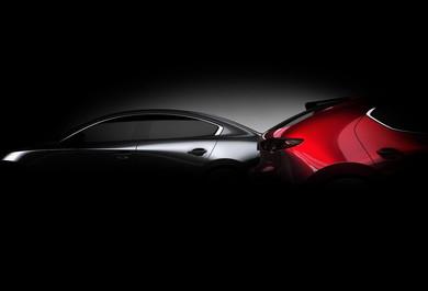 新型「Mazda 3」の予告画像