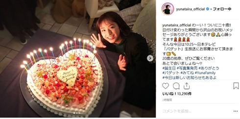平愛梨 平祐奈 誕生日 二十歳 バースデー お祝い