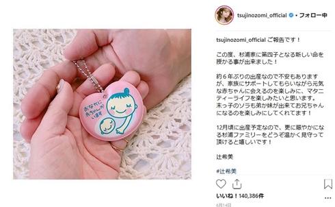 辻希美 妊娠 出産 杉浦太陽 男児 産休