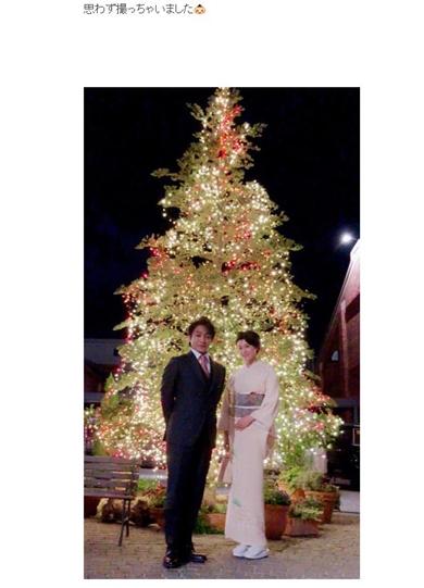 藤原紀香 片岡愛之助 いい夫婦の日 イルミネーション 歌舞伎