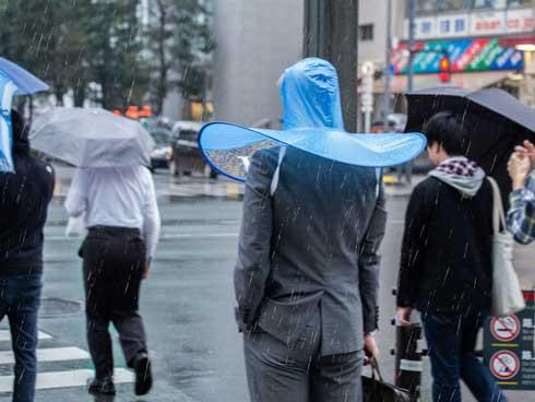 手ぶら傘 上海問屋 頭 被る