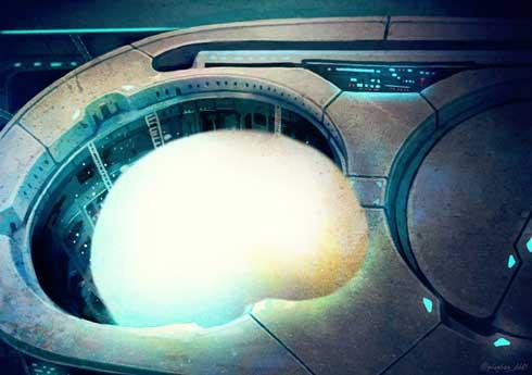 雪見だいふく 地下基地 フォトショ 加工 絵 宇宙