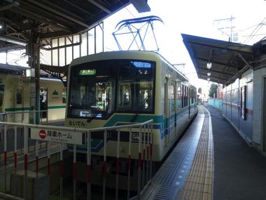 叡山電車 ひえい 撮り鉄 ハイビーム