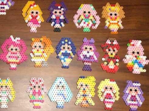 4歳の女の子がアイロンビーズで作った「プリキュア」たちが圧巻 「すごい才能!」「ドット絵の天才」