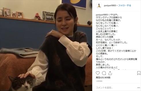 石田ゆり子 石灰性腱炎 右肩 激痛 映画 マチネの終わりに 猫 ペット タビ