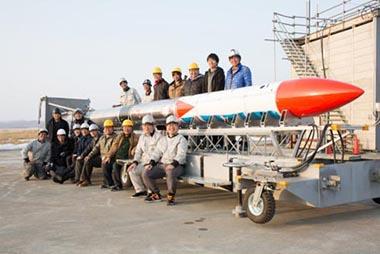 雪ミク MOMO3 サウンディングロケット