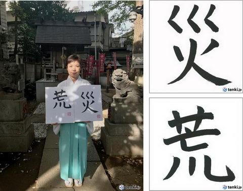 2018年の天気を表す漢字