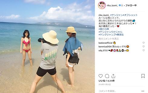 泉里香 モデル 女優 筋トレ 腹筋 ダイエット ワークアウト Instagram