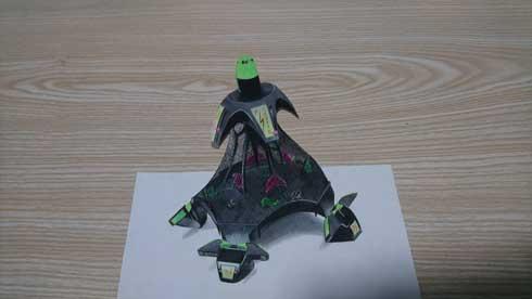 バトルドーム 超エキサイティン リアル 絵 色鉛筆 描いてみた