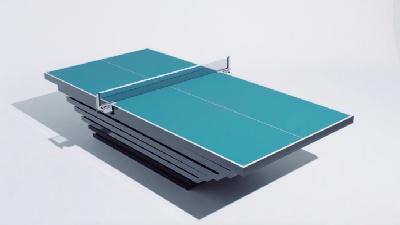 茶田ゆきみ選手のパラ卓球台
