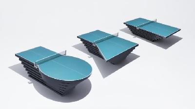 パラ卓球台の形はそれぞれ