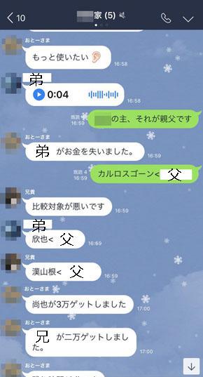 LINE会話