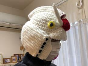 編み物ガンダムヘッド