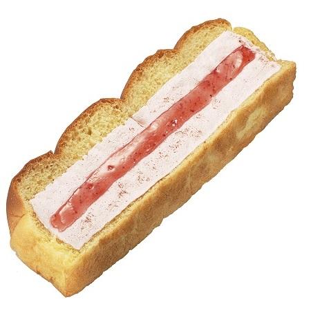 いちごジャム&いちごホイップパン