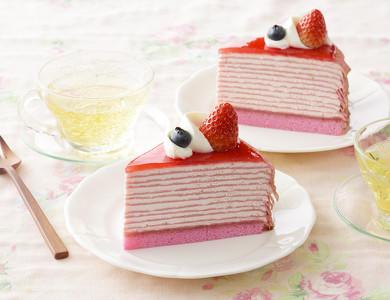 濃厚苺のミルクレープ
