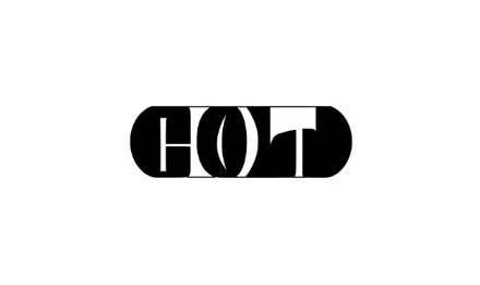 COLD HOT 飲み物 ドリンク 熱い 冷たい シール デザイン アンビグラム