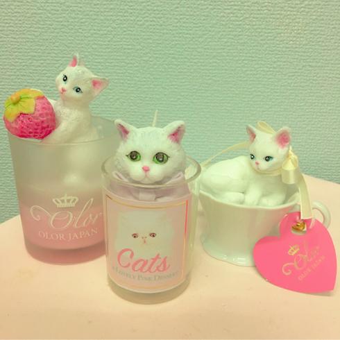 猫のキャンドル