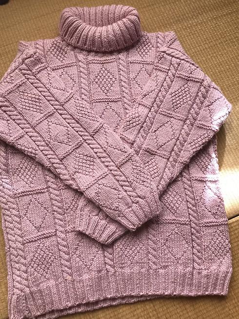 手編み セーター おばあちゃん