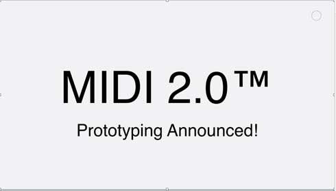 MIDI 2.0 次世代 開発 規格 プロトタイプ