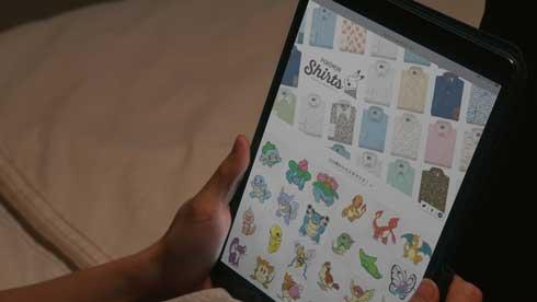 Original Stitch オリジナルスティッチ ポケモンシャツ コラボ プリント 151種