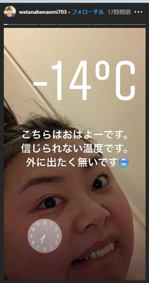 渡辺直美 ファッション ニューヨーク 防寒 ヒートテック 温度 冬