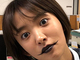 """もうリュークじゃん…… 夏菜、目つきまで完全にホラーな""""悪魔メイク""""で周囲を大いにビビらせる"""
